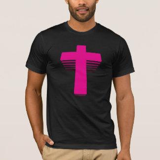 T-shirt croix de techno du style 80s