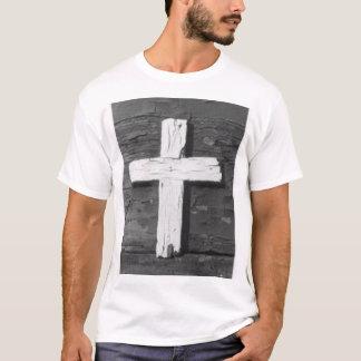 T-shirt Croix en bois