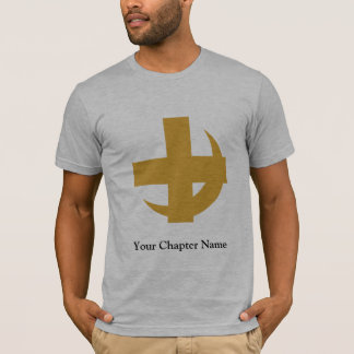 T-shirt Croix et croissant de Chi de lambda alpha