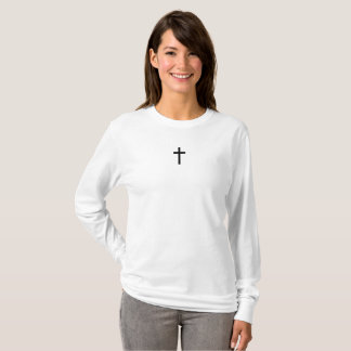 T-shirt Croix simple (noir)