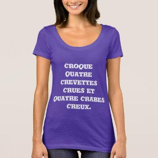 T-shirt Croque quatre crevettes crues