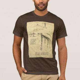 T-shirt Croquis à ailes de machine de vol par Leonardo da