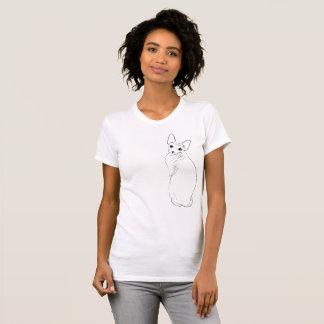 T-shirt Croquis de chat de Sphynx