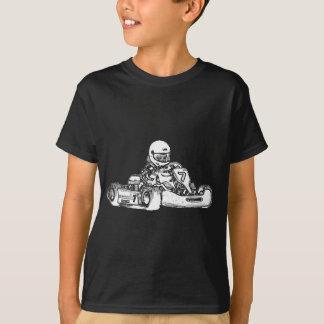 T-shirt Croquis de emballage de crayon de kart