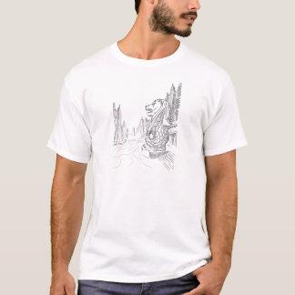 T-shirt Croquis de point de repère de tourisme de