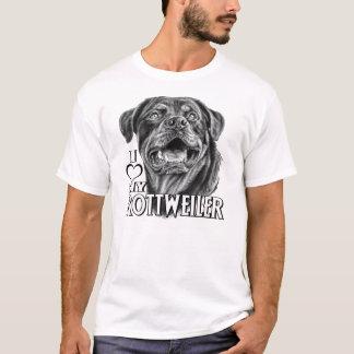 T-shirt Croquis de rottweiler