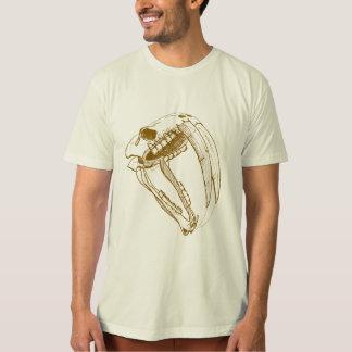T-shirt croquis de tigre de dent de sabre