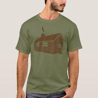 T-shirt Croquis du cabine de rondin |