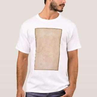T-shirt Croquis d'un chiffre avec la signature de