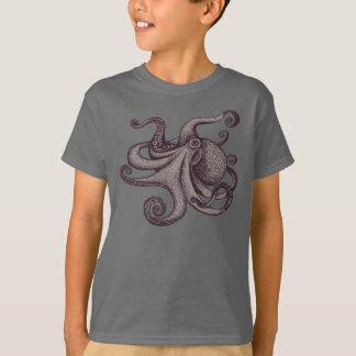 T-shirt Croquis Pacifique géant d'encre de poulpe
