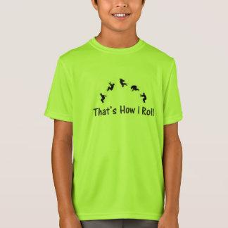 T-shirt croulant de Gymnatics Parkour de vert de