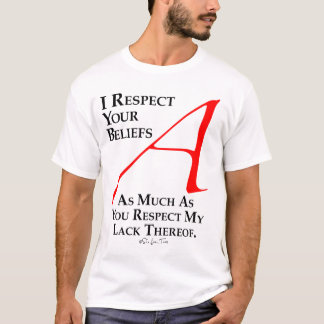 T-shirt Croyances de respect