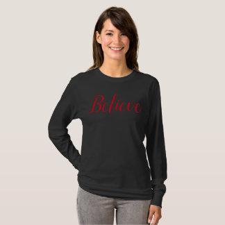 T-shirt Croyez la chemise de Père Noël
