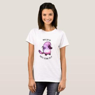 T-shirt Croyez la pièce en t des femmes de base blanches