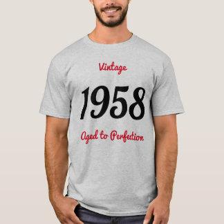 T-shirt Cru 1958 âgé à la fête d'anniversaire de la