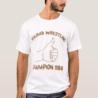 T-shirt Cru 1984 de lutte de champion de pouce