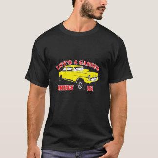 T-shirt Cru de coureur d'entrave de Rod de rat de 55 Chevy
