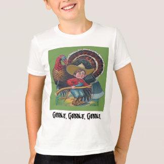 T-shirt cru de dinde et de garçon de ferme