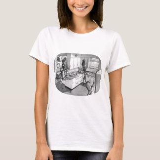 T-shirt Cru de kitsch la famille moderne d'arachide