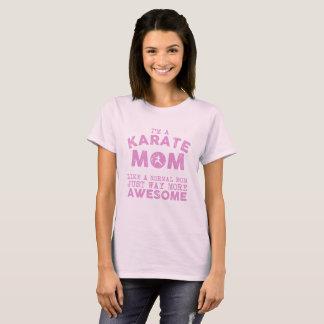 T-shirt Cru de maman de karaté de Kaizen Gojukan (rose)