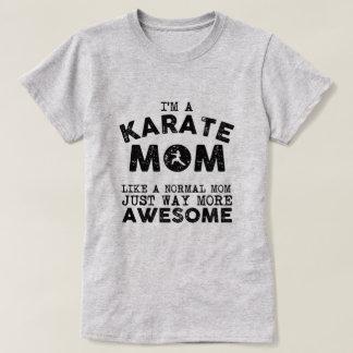 T-shirt Cru de maman de karaté (noir)