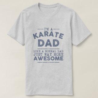 T-shirt Cru de papa de karaté (bleu)