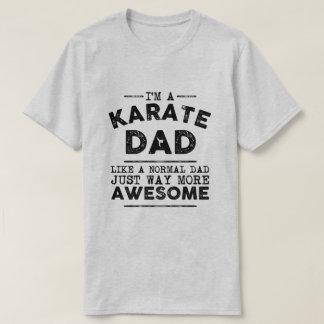 T-shirt Cru de papa de karaté (noir)