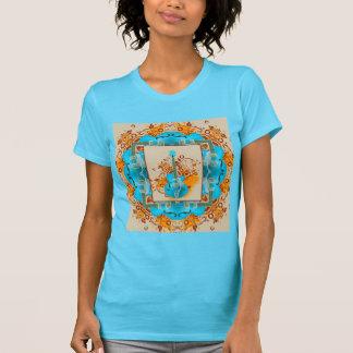 T-shirt Cru grunge floral de guitare acoustique