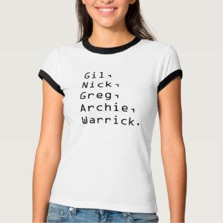 T-shirt CSI : Types de Las Vegas