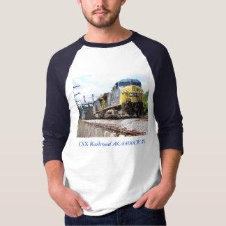 T-shirt CSX Railroad AC4400CW #6 avec une sonnerie de