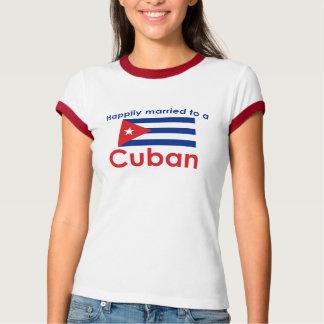 T-shirt Cubain heureusement marié