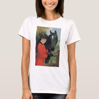 T-shirt Cube équestre en sucre de cheval de manteau rouge