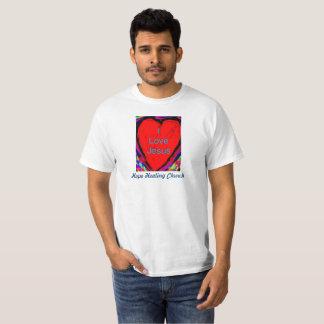 T-shirt curatif de chrétien de Jésus d'amour de