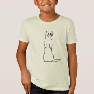 T-shirt curieux de loutre