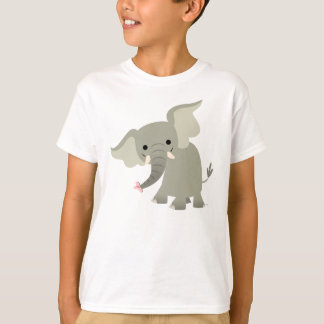 T-shirt curieux d'enfants d'éléphant de bande