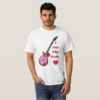T-shirt customisé d'amour et de musique