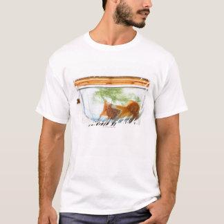 T-shirt Cuvette de poisson rouge
