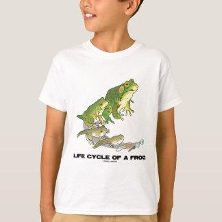 T-shirt Cycle de vie d'une grenouille (de l'oeuf au têtard