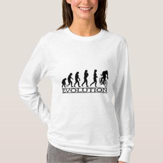 T-shirt Cycliste de femelle d'évolution