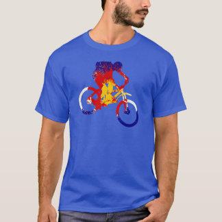 T-shirt Cycliste de montagne de drapeau du Colorado des