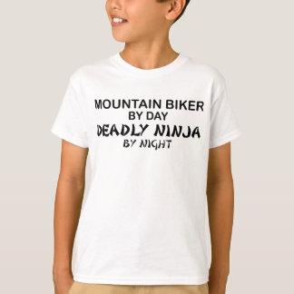 T-shirt Cycliste de montagne Ninja mortel par nuit