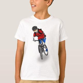 T-shirt Cycliste squelettique de montagne