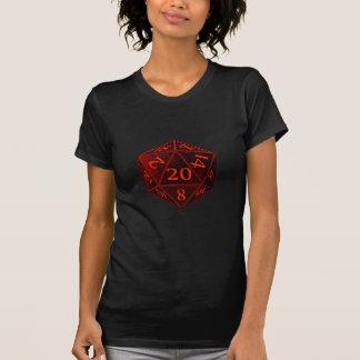 T-shirt D&D CHAOS noir et rouge de d20 meurent