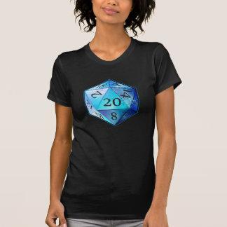 T-shirt D&D COBALT bleu et noir de d20 meurent