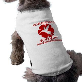 T-shirt d'académie de colibri pour des chiens