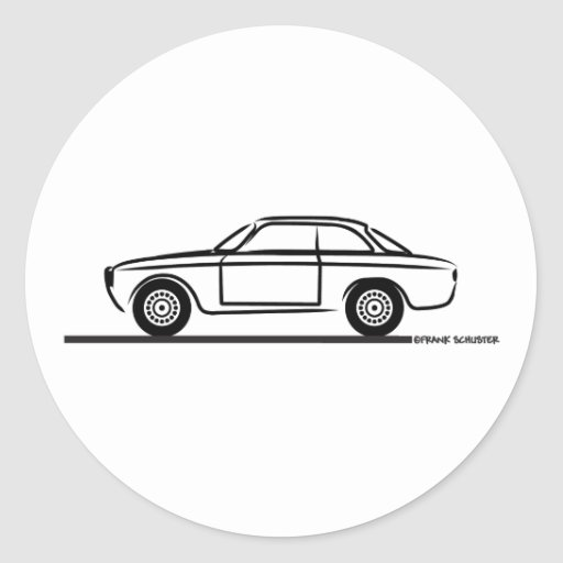 T-shirt d'Alfa Romeo GTA GTV Adhésifs Ronds