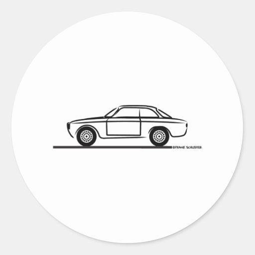 T-shirt d'Alfa Romeo GTA GTV Autocollant Rond