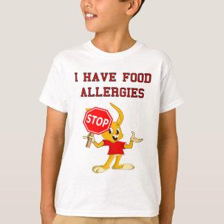 T-shirt d'allergies alimentaires de StopBunny de