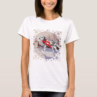 T-shirt Dalmate et pie d'hiver