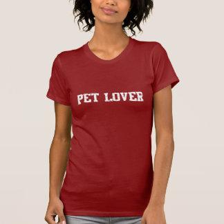 T-shirt d'amant d'animal familier de dames